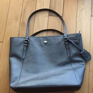 Coach metallic leather tote